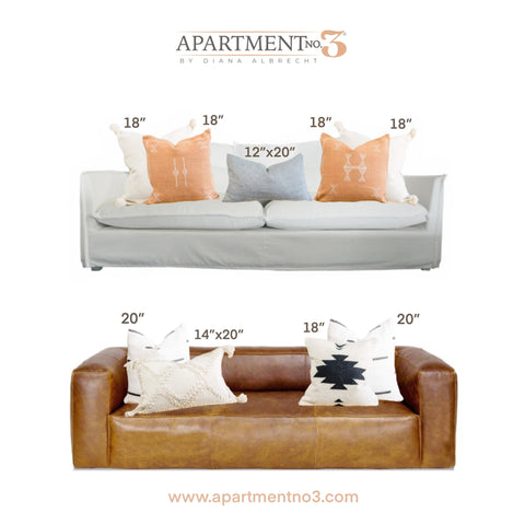 Two-seater three-seater pillow arrangement