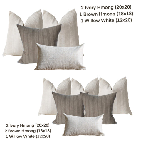 Pillow Combinations for Bed
