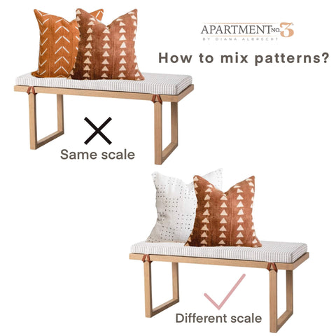 How to mix patterned pillows