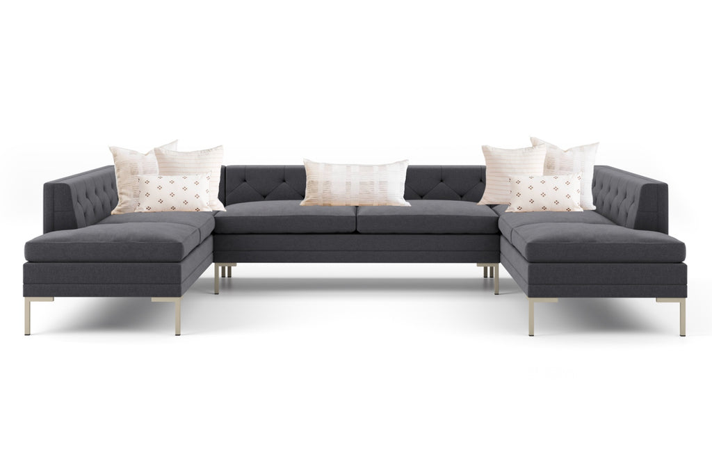 Sectional Couch and Throw Pillow Combination
