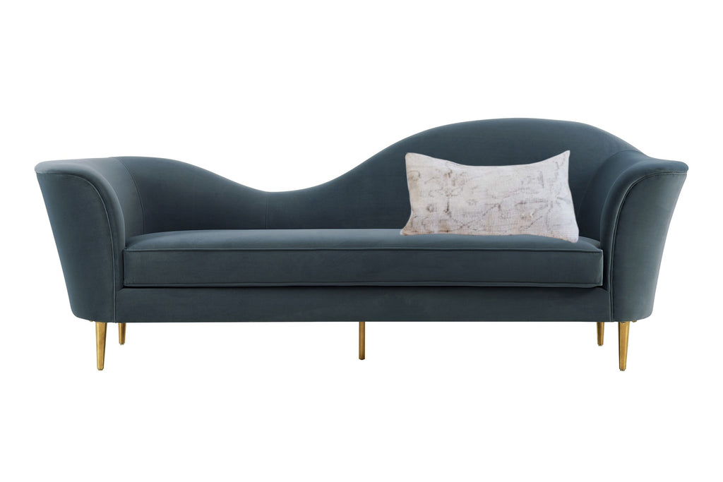 Settee couch and lumbar pillow