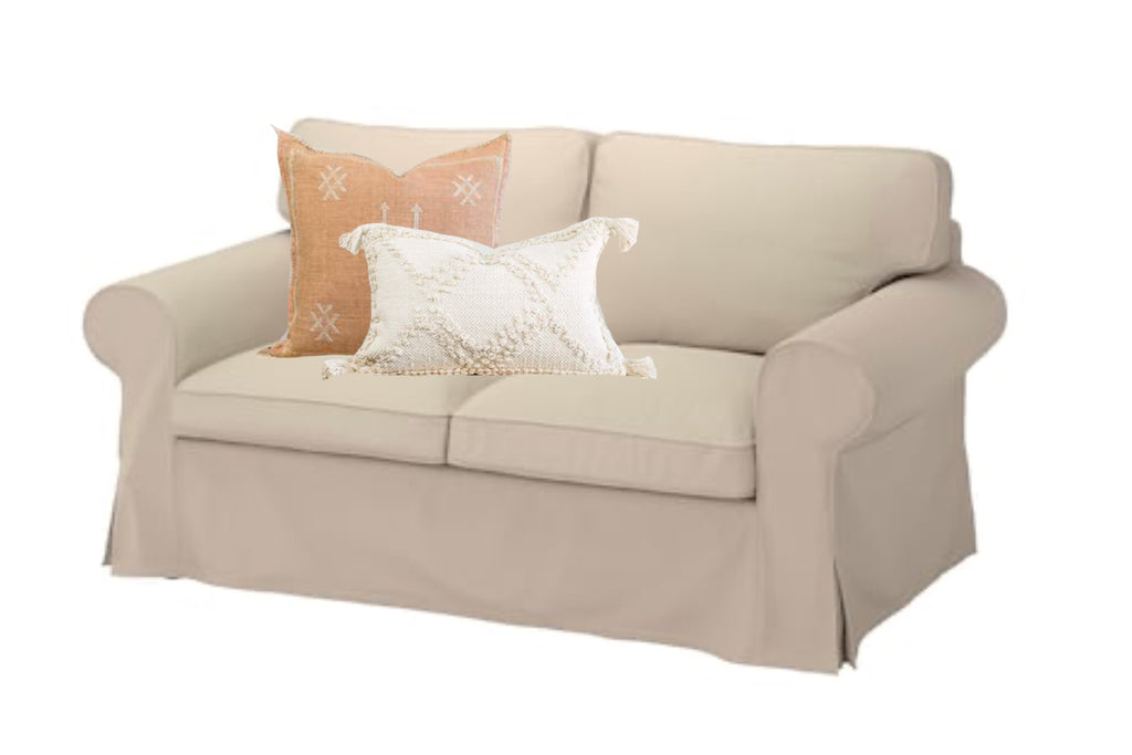 Loveseat Couch and Pillows