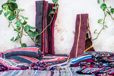 colorful textured hand loomed textiles