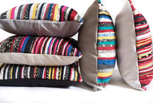 Multicolored Handmade Striped Pillows