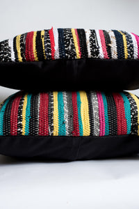 Colorful Striped Textured pillows