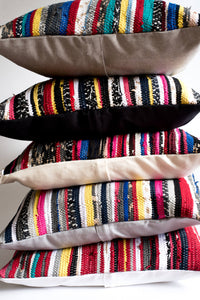 Colorful hand loomed Pillows