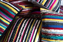 Load image into Gallery viewer, Multicolor Striped Textured Hand loomed Pillows