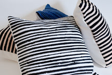 Load image into Gallery viewer, Black and White Striped Throw Pillows