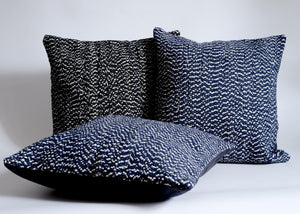 hand loomed textured throw pillows