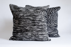 Set of Black and white decorative pillows