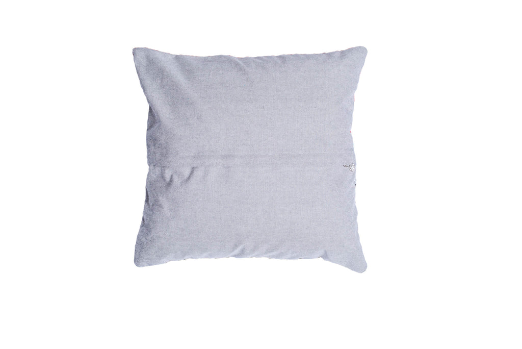 Grey Back Throw Pillow