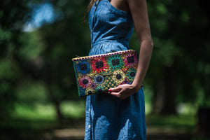 Colorful Bohemian Clutch