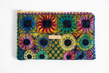 Load image into Gallery viewer, Front of Embroidered Clutch