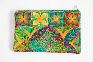 Back of Green Embroidered Clutch
