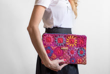 Load image into Gallery viewer, Pink Embroidered Clutch