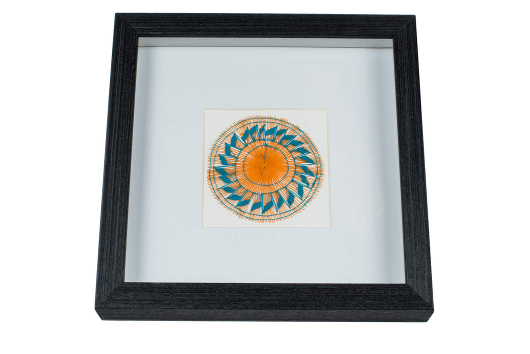 Framed Ñanduti Art (Thin Thread)| 8 x 8 in