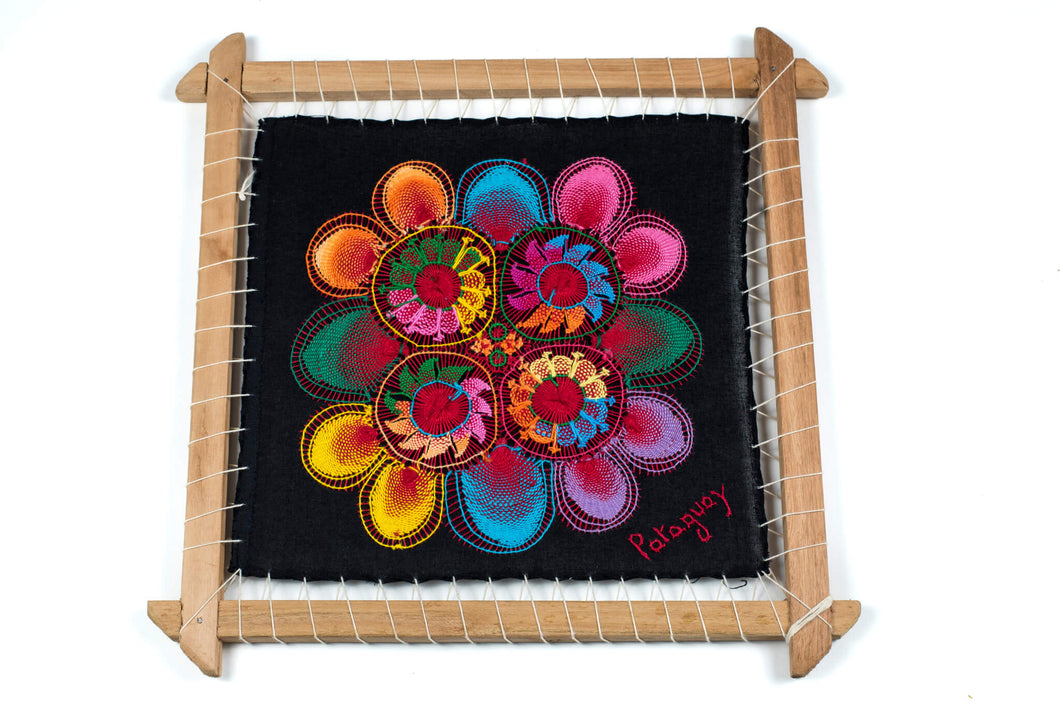 Original Ñanduti Art Frame | Medium | 12.5 x 12.5 in