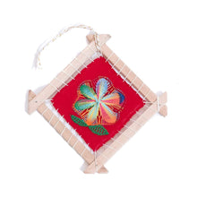 Load image into Gallery viewer, Original Ñanduti Art Frame | Christmas Tree Ornament | 5.5 x 5.5 in