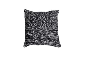 Black pillow with white details