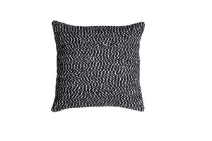 White and Black Throw Pillow Cover