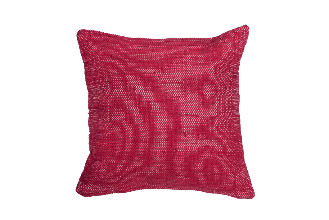 Vibrant Red Trapo Pillow Cover | 20 x 20