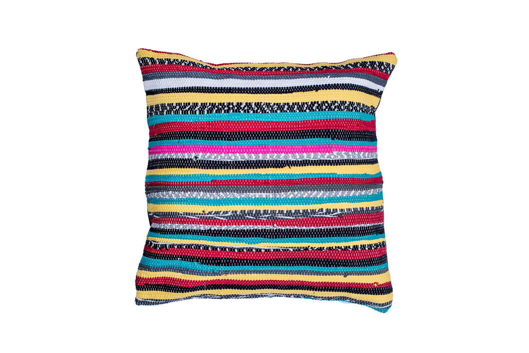 Colorful Boho Trapo Pillow Cover | 20 x 20