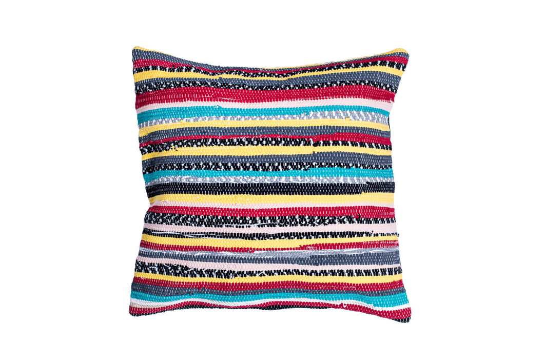 Yellow Stripes Trapo Pillow Cover | 20 x 20