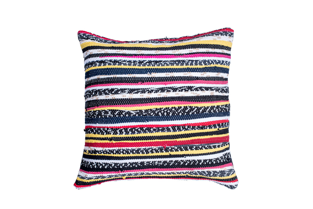 Multicolored Striped Trapo Pillow Cover | 20 x 20