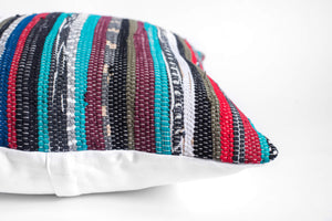 textured striped pillow cover