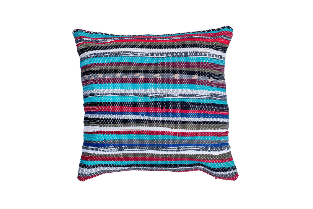 Green Striped Trapo Pillow Cover | 20 x 20