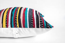 Load image into Gallery viewer, multicolored striped pillow