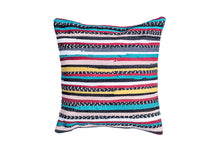Load image into Gallery viewer, Teal and Yellow Bohemian Trapo Pillow Cover | 20 x 20