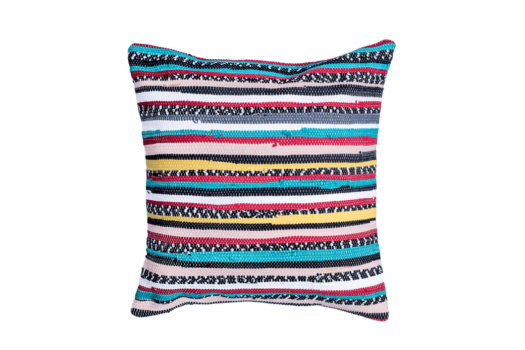 Teal and Yellow Bohemian Trapo Pillow Cover | 20 x 20