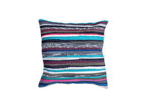 Blue Tones Striped Throw Pillow Cover