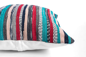 Striped bohemian pillow