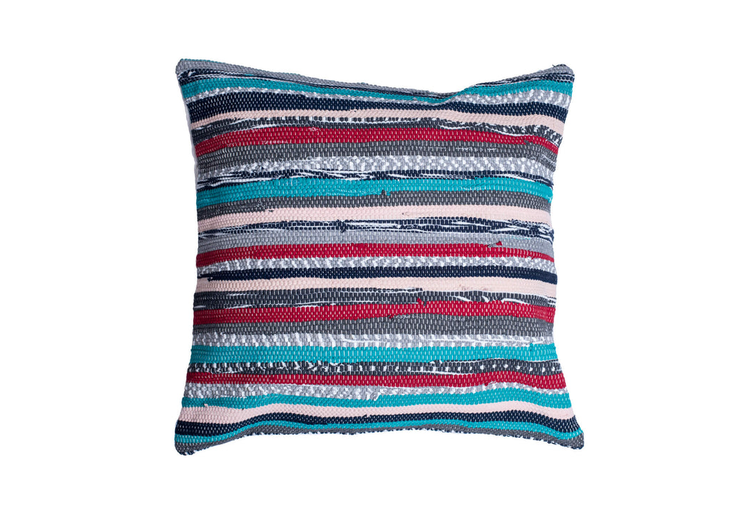Green Stripes Trapo Pillow Cover | 20 x 20