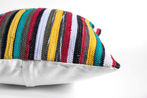 striped colorful throw pillow
