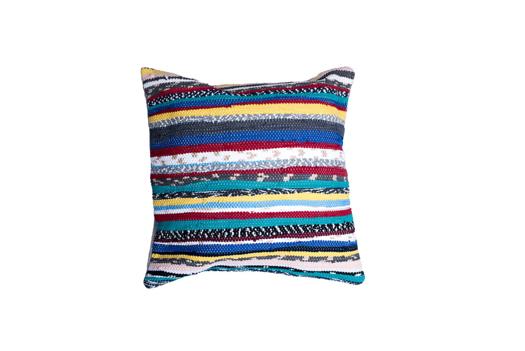 Striped Colorful Handmade Bohemian Pillow