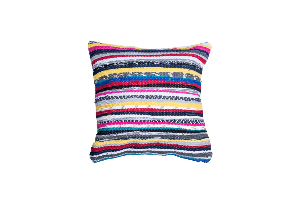 Vibrant Striped Decorative Pillow