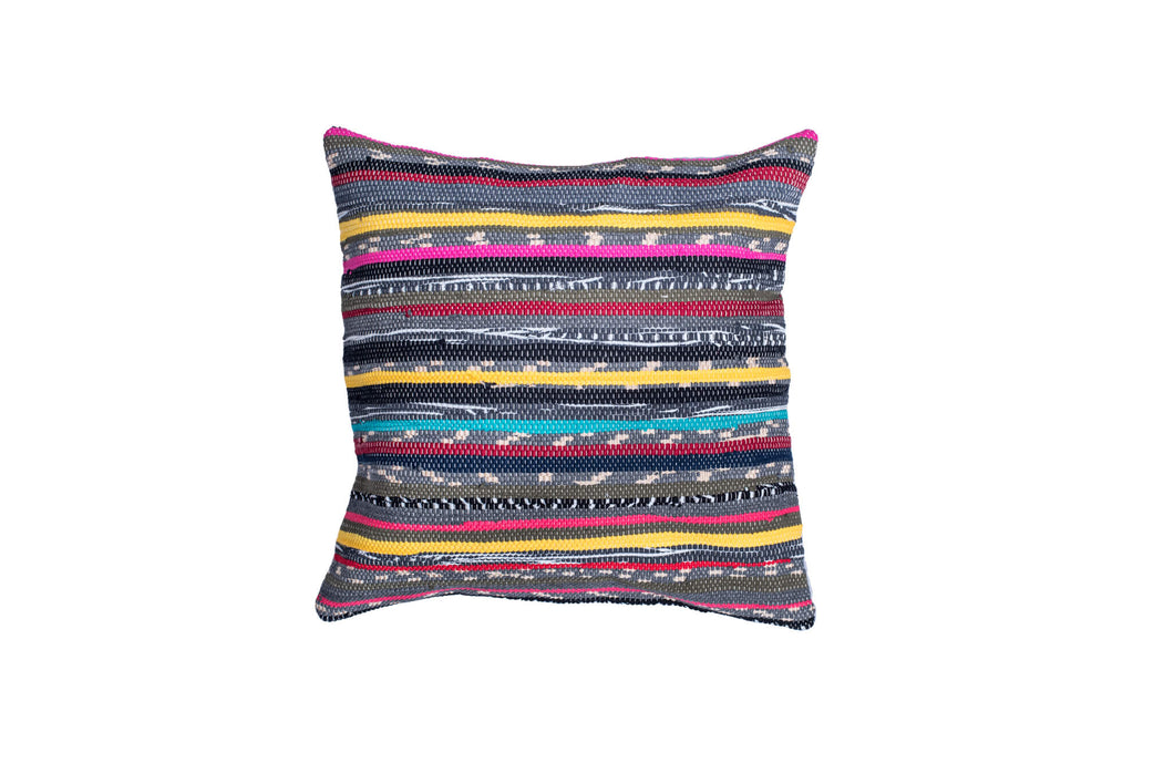 Colorful Vibrant Hand Loomed Throw Pillow