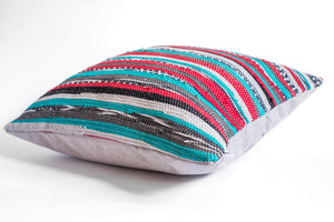 Striped handmade throw pillow
