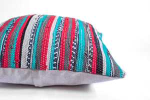 colorful bohemian pillow