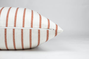 Toscana Rust Striped Pillow Cover 20'' x 20''