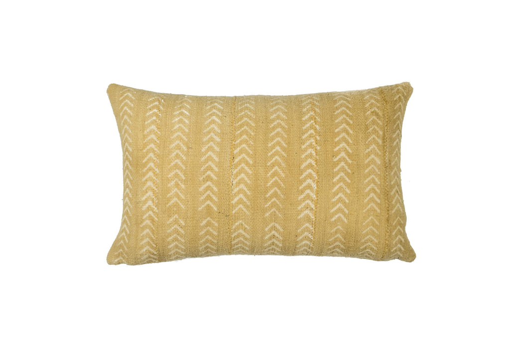 Mustard Mud Cloth Pillow Cover 12'' x 20''
