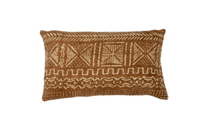 Rust Mud Cloth Pillow Cover 12'' x 20''