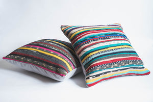 Colorful Textured Hand loomed pillows