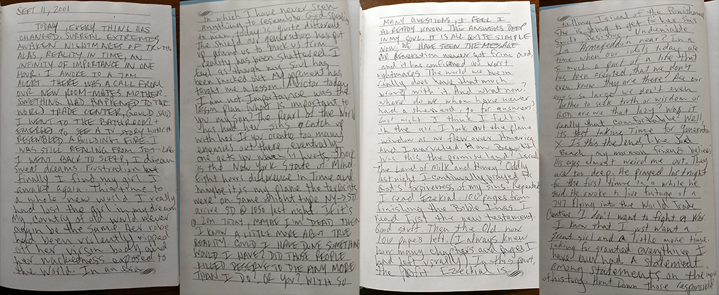 Andrew M. Cook's 9/11/01 Journal Entry