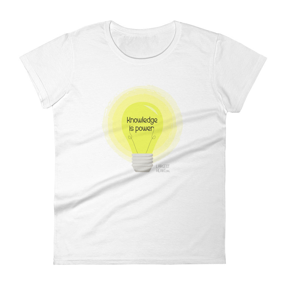 Women's Short Sleeve T-shirt - Knowledge is Power