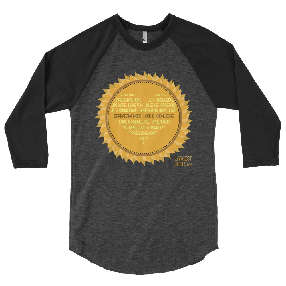 3/4 Baseball Tee's - Sunflower
