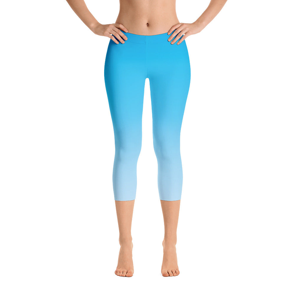 Capri Leggings - Sky